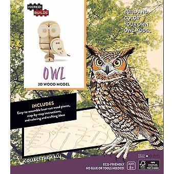 IncrediBuilds Owl 3D Wood Model