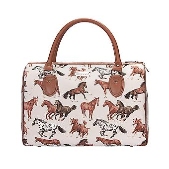 Running horse weekend travel bag by signare tapestry / trav-rhor