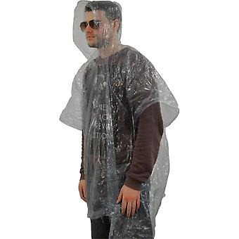 Regenjas voor éénmalig gebruik (Poncho-stijl)