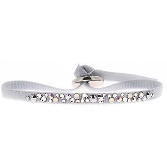 Bracelet Les Interchangeables A41173 - Bracelet Tissu Acier Bleu Femme