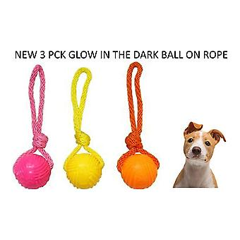 Armitage Good Boy Pets Glow In The Dark Ball On Rope Tug Toy