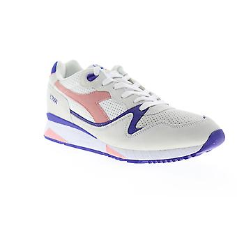 Diadora V7000 Premium Mens White Camurça Low Top Tênis Sapatos