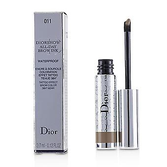 Christian Dior Diorshow All Day Waterproof Brow Ink - # 011 Light - 3.7ml/0.12oz