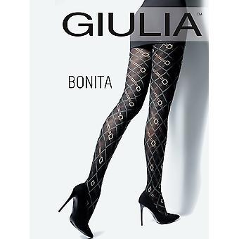 Giulia Bonita Argyle Cotton Tights - Hosiery Outlet