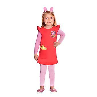 Dievčatá Peppa kostým-Peppa Pig