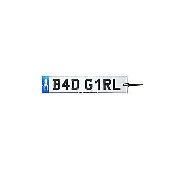 Bad Girl Numberplate Car Air Freshener