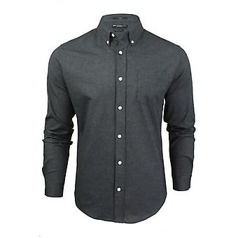 Crosshatch MenÛ ª s Û ÷ designer SloaneÛ ª Oxford manga comprida colarinho camisa casual