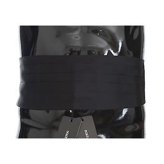 Dolce & Gabbana Black Wide Belt Silk Cummerbund