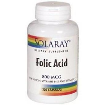Solaray Fólico 800mcg de ácido. 100cap.