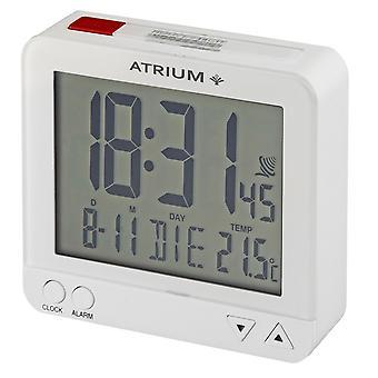 ATRIUM vækkeur digital Kvarts vækkeur A740-0 Night Light Rejse Vækkeur Hvid