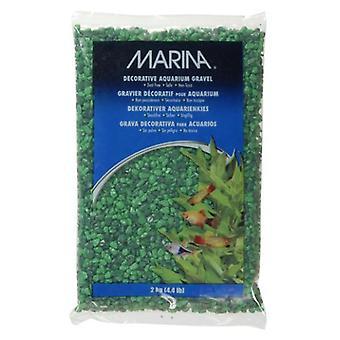 Marina MARINA siergrind IN GROEN MIX 2 kg (Vissen , Decoratie , Grind en zand)