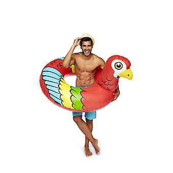 Bigmouth Inflatable Floating Lounge Giant Parrot Bathring 120cm