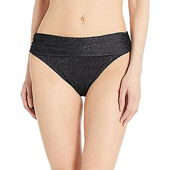 Kenneth Cole New York Women's Shirred Band Hipster Bikini Swimsuit Bottom, Bl...