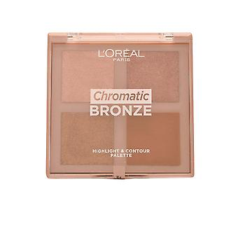 L'Oreal chromatische Bronze Highlight & Contour Palette 10g TargetMe/Last Step/After Paris/Crazy
