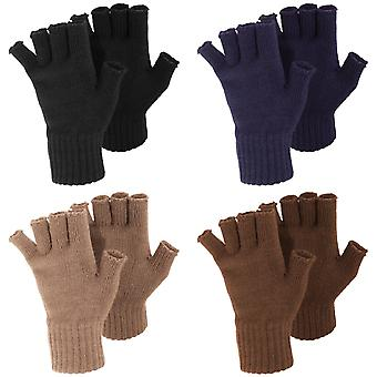 FLOSO Ladies/Womens Winter guanti senza dita