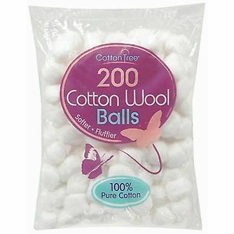 12 x 200 balles de coton hydrophile composent dissolvant vernis à ongles nettoyage absorbants