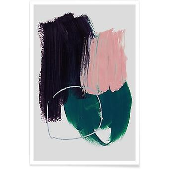 JUNIQE Print -  Abstract Brush Strokes 10 - Abstrakt & Geometrisch Poster in Bunt