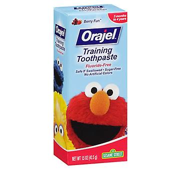 Orajel toddler training toothpaste, berry fun, 1.5 oz