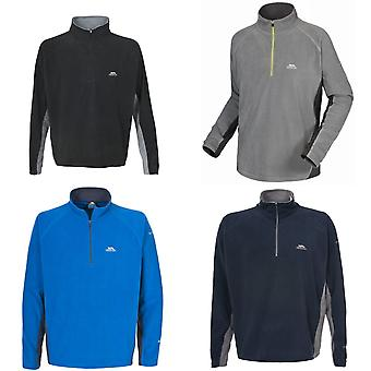 Trespass Mens Tron Two Tone Half Zip Microfleece Top