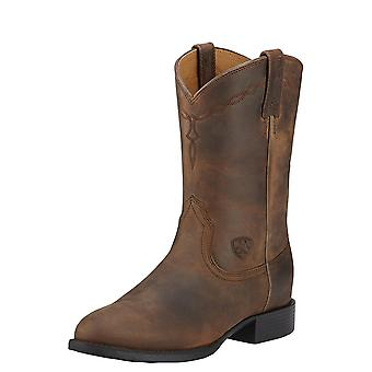 Ariat Heritage Roper Womens Western Boot - Distressed Brown