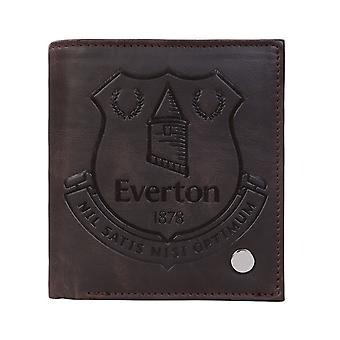 Everton FC Official Football Gift Luxury Brown Faux Leather Wallet