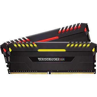 Corsair Vengeance RGB RGB Memory Kit Beleuchtet RGB LED Enthusiastic 16 GB (2x8 GB), DDR4 3200 MHz, C16 XMP 2.0, Schwarz
