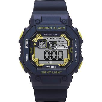 Cannibal Boys/Teen Digital Chronograph Dark Blue Silicone Strap Watch CD277-05