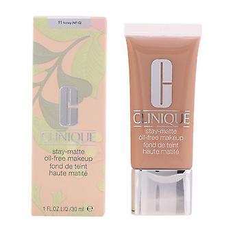 Maquillaje Líquido Base Stay Matte Clinique 11-Honey (30 ml)