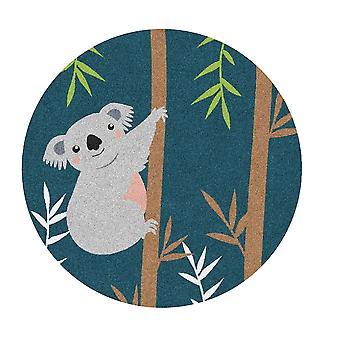 Kids Rug - Koala - Wasbaar - Cirkel 75 cm