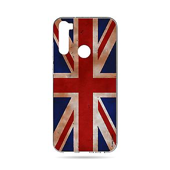 Hull For Xiaomi Redmi Note 8t Soft Flag Uk Vintage
