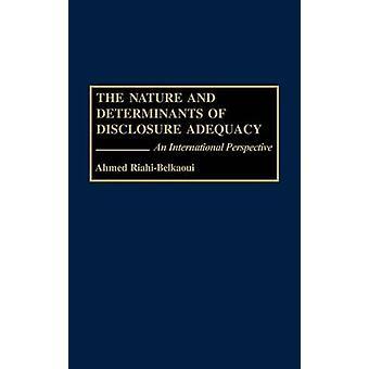 Arten och bestämningsfaktorerna för upplysnings tillräcklighet ett internationellt perspektiv av RiahiBelkaoui & Ahmed