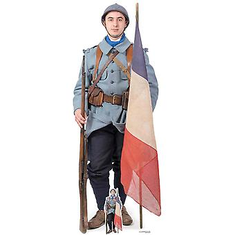 French World War 1 Soldier Cardboard Cutout / Standee / Standup / Standee