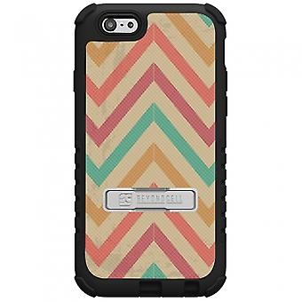 APPLE IPHONE 6 PLUS BEYOND CELL TRI SHIELD CASE - PASTEL CHEVRON