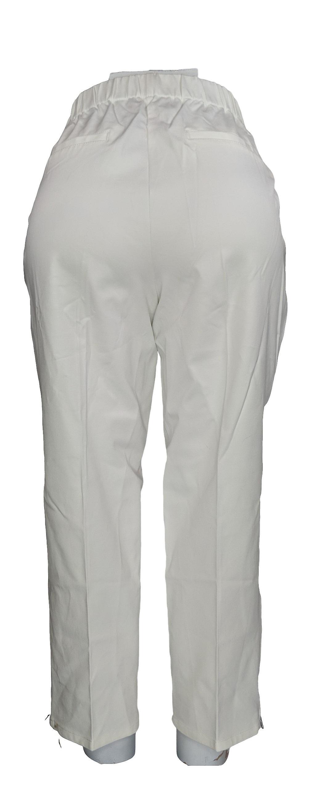 Isaac Mizrahi Live! Women's Petite Pants 24/7 Stretch Ankle White A286113 rLmGux