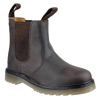 Amblers Chelmsford Unisex Leather Chelsea Boots Brown