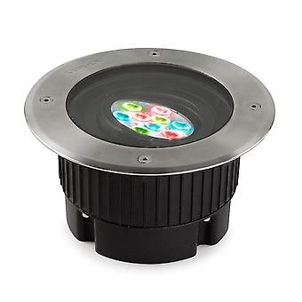 <p>Led-C4 Gea</p> - <p>Utendørs LED Innfelt Ground Uplight rustfritt stål Polert DMX Dimming 18.5cm 16deg. RGB IP67</p> - 55-9825-CA-37
