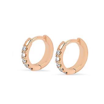 Ohrring Diamant Reifen 18K Gold und Diamanten