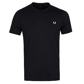 Fred Perry Black Ringer T-Shirt