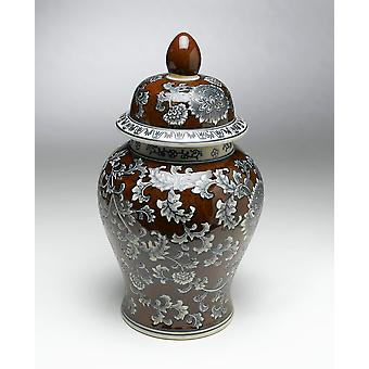 AA Importing 59758 18 Inch Brown & Grey Ginger Jar