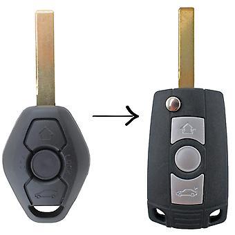 Custom To Suit BMW 3 Button Flip Key Remote X3 X5 Z4 E38 E39 M5 M3