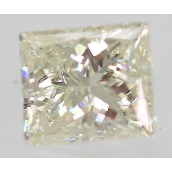 Certified 0.71 Carat I VVS1 Princess Enhanced Natural Diamond 5.26x4.54mm 2VG