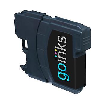 1 Svart bläckpatron för att ersätta Brother LC980Bk & LC1100Bk Compatible/non-OEM by Go Inks