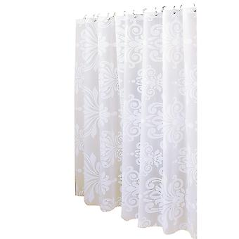 YANGFAN Simple Nordic Style Big White Flower Shower Curtain