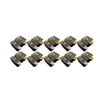 RudyTwos 10x Replacement for Kodak 10B 10C Set Ink Unit Black & Tri-Colour Compatible with ESP 3, ESP 5, ESP 7, ESP 9, ESP 3200, ESP 3250, ESP 5000, ESP 5100, ESP 5200, ESP 5210, ESP 5250, ESP 5300, E