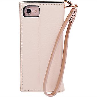 Case-Mate Leather Wristlet Folio Case for Apple iPhone 8, iPhone 7 (Rose Leather)