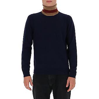 Maison Margiela S30hb0235s17555003f Men's Blue Wool Sweater