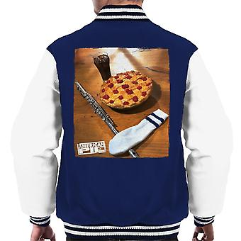 American Pie Flute Sock And Pie Men's Varsity Jacket