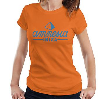 Amnesia Ibiza blå logo-T-shirt til kvinder