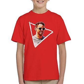 Motorsport Images Jenson Button Sunglasses Monaco GP 2017 Kid's T-Shirt
