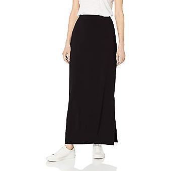 Brand - Daily Ritual Women's Supersoft Column Skirt, Black, Medium